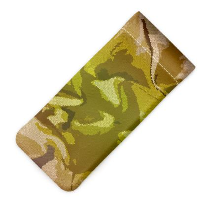 Glasses Case Pouch - Honeycomb Marble Abstract 3