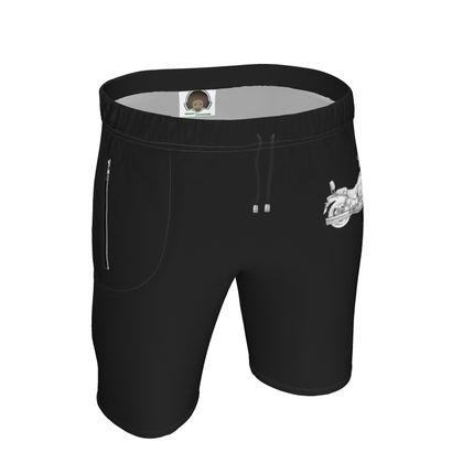 Mens Sweat Shorts - Cruiser Sketch