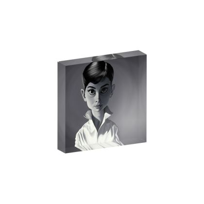 Audrey Hepburn Celebrity Caricature Acrylic Photo Blocks