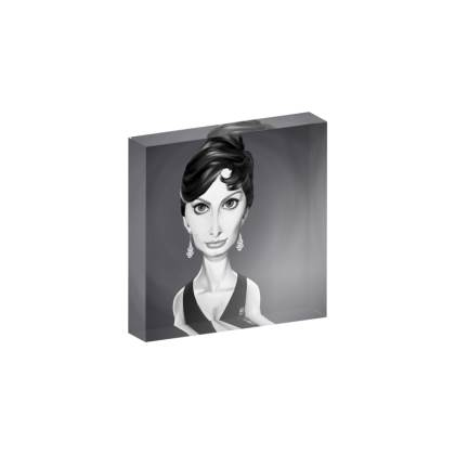 Sophia Loren Celebrity Caricature Acrylic Photo Blocks