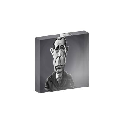 Humphrey Bogart Celebrity Caricature Acrylic Photo Blocks