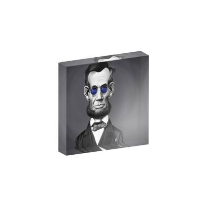 Abraham Lincoln Steampunk Celebrity Caricature Acrylic Photo Blocks