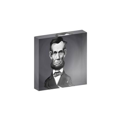 Abraham Lincoln Celebrity Caricature Acrylic Photo Blocks
