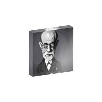 Sigmund Freud Celebrity Caricature Acrylic Photo Blocks