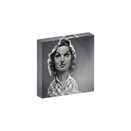 Ingrid Bergman Celebrity Caricature Acrylic Photo Blocks