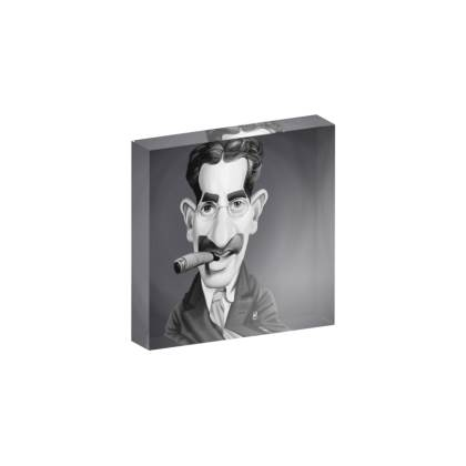 Groucho Marx Celebrity Caricature Acrylic Photo Blocks