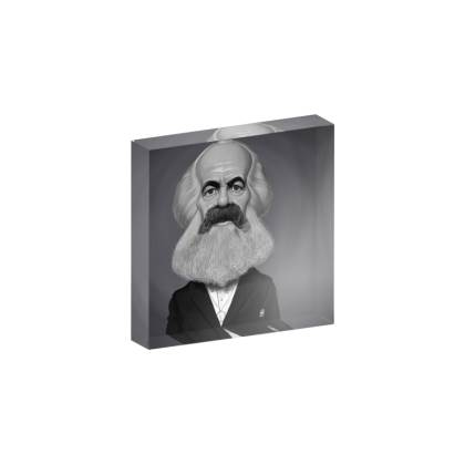 Karl Marx Celebrity Caricature Acrylic Photo Blocks
