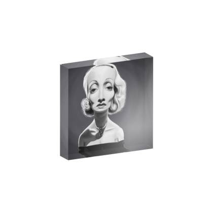 Marlene Dietrich Celebrity Caricature Acrylic Photo Blocks