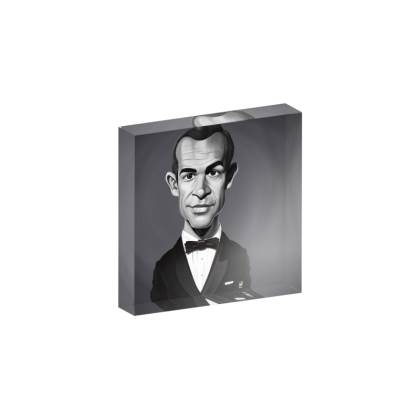 Sean Connery Celebrity Caricature Acrylic Photo Blocks