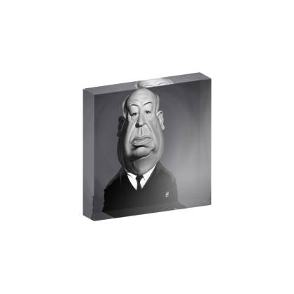 Alfred Hitchcock Celebrity Caricature Acrylic Photo Blocks
