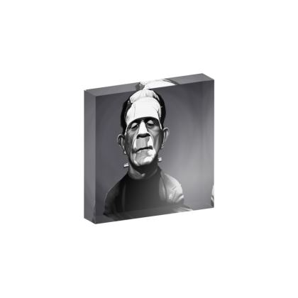 Boris Karloff Celebrity Caricature Acrylic Photo Blocks