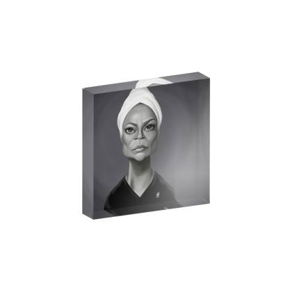 Eartha Kitt Celebrity Caricature Acrylic Photo Blocks