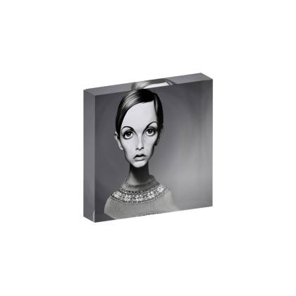 Twiggy Celebrity Caricature Acrylic Photo Blocks