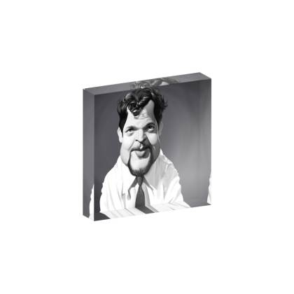 Orson Welles Celebrity Caricature Acrylic Photo Blocks