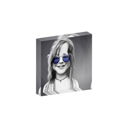 Janis Joplin Steampunk Celebrity Caricature Acrylic Photo Blocks