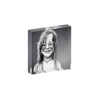 Janis Joplin Celebrity Caricature Acrylic Photo Blocks