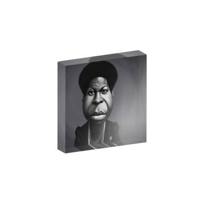 Nina Simone Celebrity Caricature Acrylic Photo Blocks