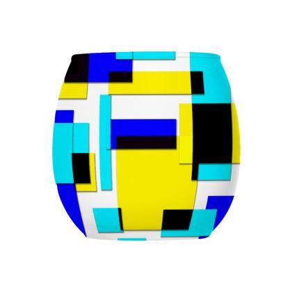 Glass Tealight Holder - Bright Squares