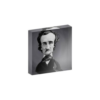 Edgar Allan Poe Celebrity Caricature Acrylic Photo Blocks