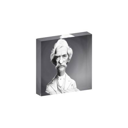 Mark Twain Celebrity Caricature Acrylic Photo Blocks