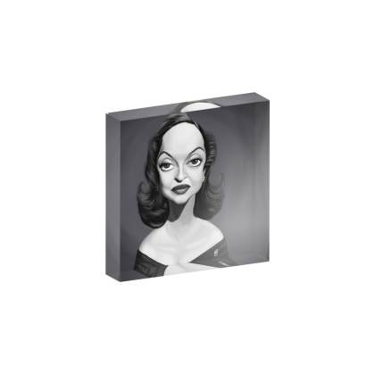 Bette Davis Celebrity Caricature Acrylic Photo Blocks