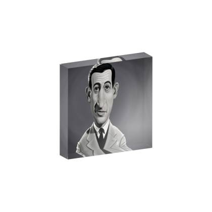 J.D.Salinger Celebrity Caricature Acrylic Photo Blocks