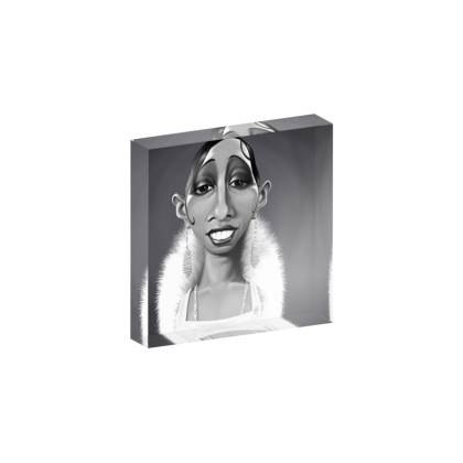 Josephine Baker Celebrity Caricature Acrylic Photo Blocks