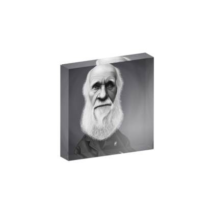 Charles Darwin Celebrity Caricature Acrylic Photo Blocks