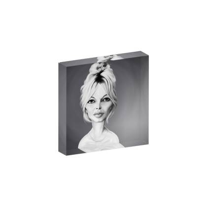Brigitte Bardot Celebrity Caricature Acrylic Photo Blocks