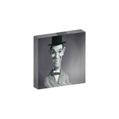 Stan Laurel Celebrity Caricature Acrylic Photo Blocks