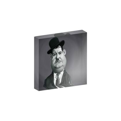 Oliver Hardy Celebrity Caricature Acrylic Photo Blocks