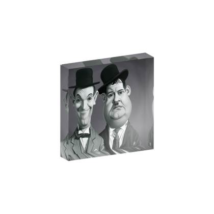 Laurel and Hardy Celebrity Caricature Acrylic Photo Blocks