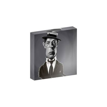 Buster Keaton Celebrity Caricature Acrylic Photo Blocks