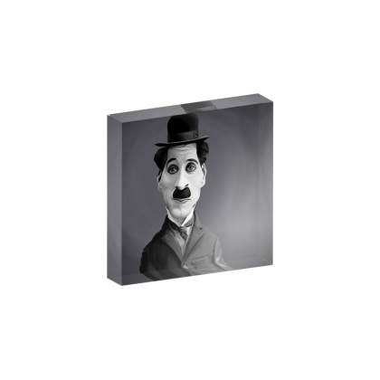 Charlie Chaplin Celebrity Caricature Acrylic Photo Blocks