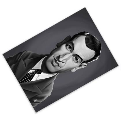 James Stewart Celebrity Caricature Postcard