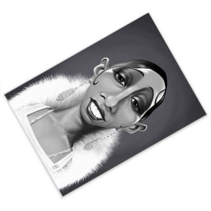 Josephine Baker Celebrity Caricature Postcard