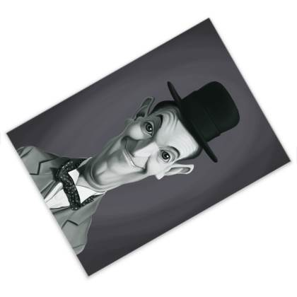 Stan Laurel Celebrity Caricature Postcard