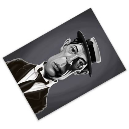 Buster Keaton Celebrity Caricature Postcard