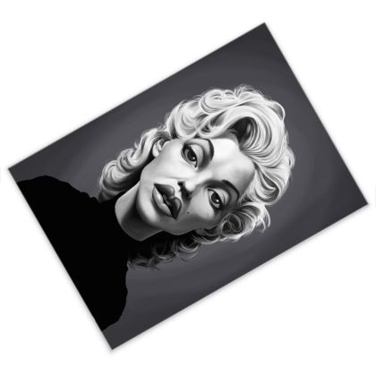 Marilyn Monroe Celebrity Caricature Postcard
