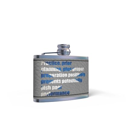 Leather Wrapped Hip Flask - Practice Plus Preparation (SCO)