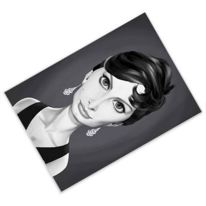 Sophia Loren Celebrity Caricature Postcard