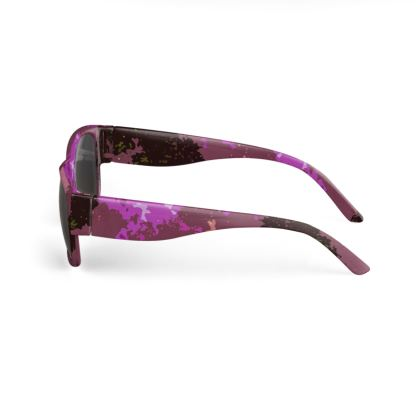 Sunglasses - Pink Ion Storm Abstract