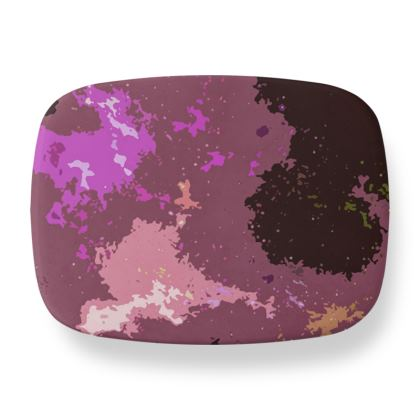 Lunch Box - Pink Ion Storm Abstract