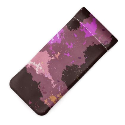 Glasses Case Pouch - Pink Ion Storm Abstract
