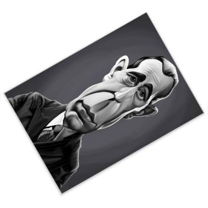 Humphrey Bogart Celebrity Caricature Postcard