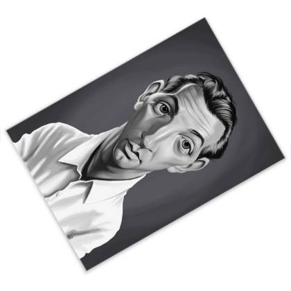 Robert Mitchum Celebrity Caricature Postcard