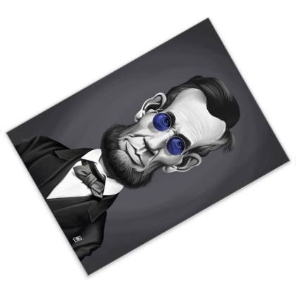 Abraham Lincoln Steampunk Celebrity Caricature Postcard