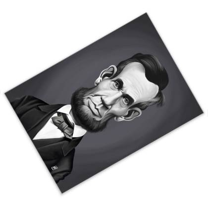 Abraham Lincoln Celebrity Caricature Postcard