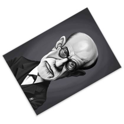 Sigmund Freud Celebrity Caricature Postcard