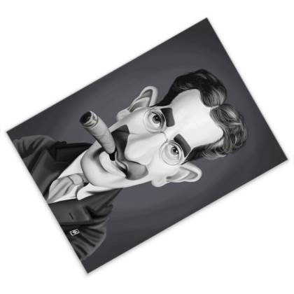 Groucho Marx Celebrity Caricature Postcard